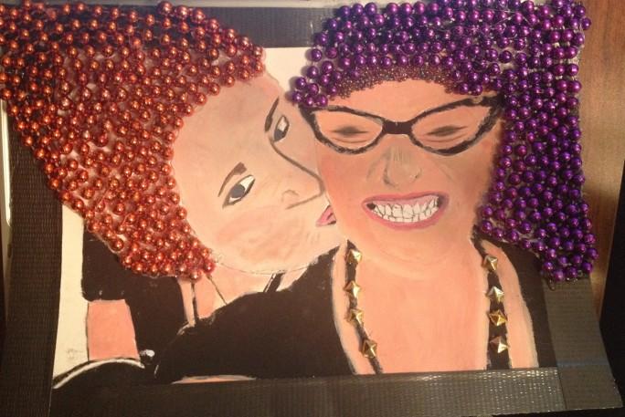 Mardi Gras Bead Portrait Commission by Alexis Lewis - thevagrinda.com