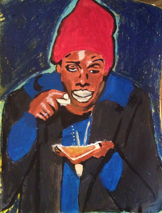 Tyrone Biggums, Dave Chappelle Portrait by Alexis Lewis - thevagrinda.com